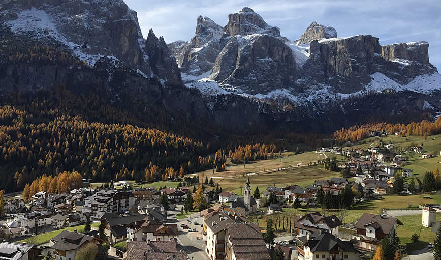 The village of Colfosco in Alta Badia